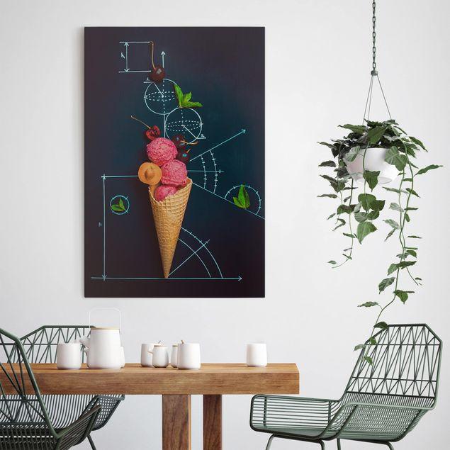 Leinwandbild - Geometrie im Sommer - Hoch 2:3