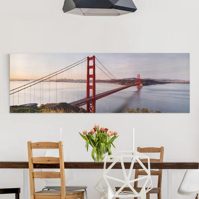 Leinwandbild - Golden Gate Bridge in San Francisco - Panorama Quer