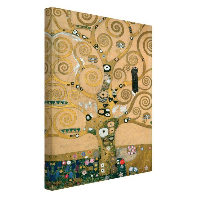 Leinwandbild Gustav Klimt - Kunstdruck Der Lebensbaum - Hoch 2:3 -Jugendstil