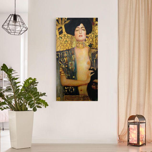 Leinwandbild Gustav Klimt - Kunstdruck Judith I - Hoch 1:2 - Jugendstil