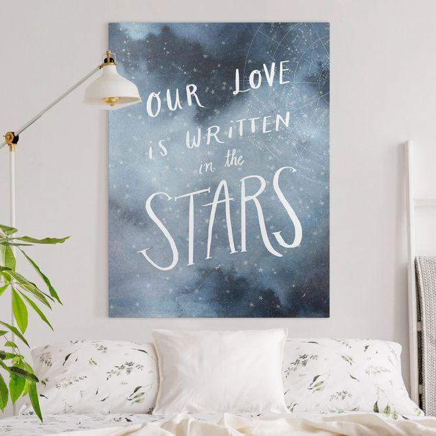 Leinwandbild - Himmlische Liebe - Sterne - Hochformat 4:3