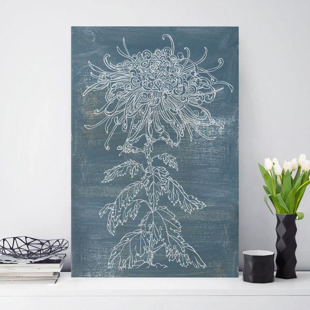 Leinwandbild - Indigo-Pflanzen I - Hochformat 3:2