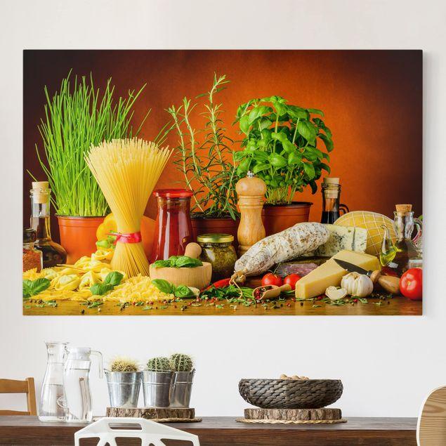 Leinwandbild - Italienische Küche - Querformat 3:2