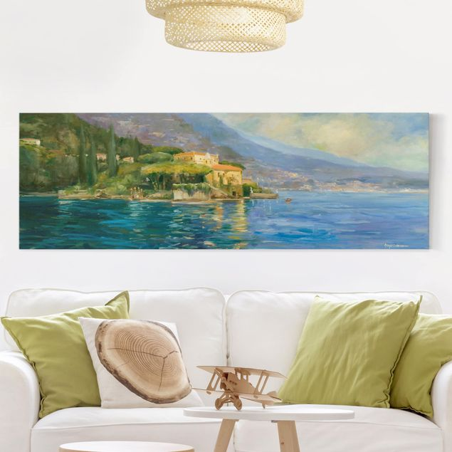 Leinwandbild - Italienische Landschaft - Meer - Panorama 1:3