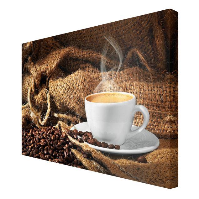 Leinwandbild - Kaffee am Morgen - Quer 3:2