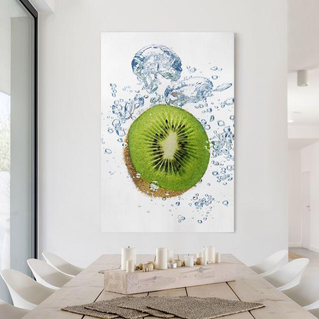 Leinwandbild - Kiwi Bubbles - Hoch 2:3