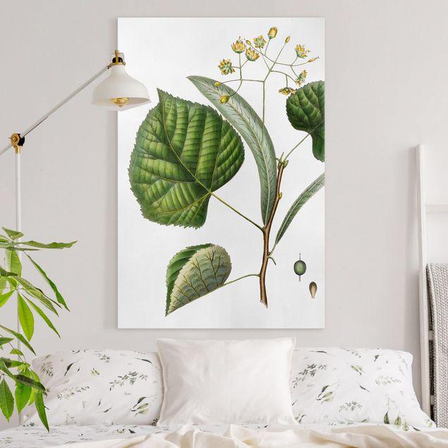 Leinwandbild - Laubwerk mit Blüten I - Hochformat 3:2