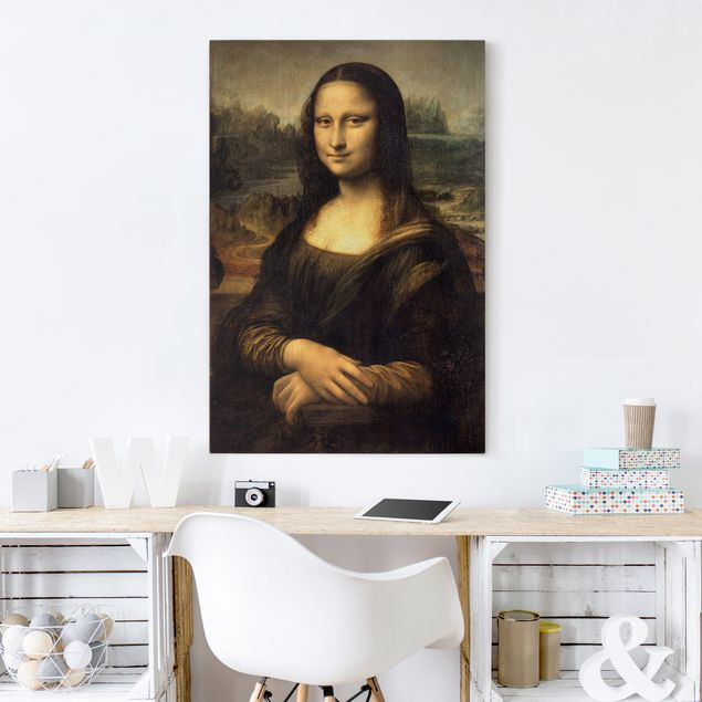 Leinwandbild - Leonardo da Vinci - Mona Lisa - Hoch 2:3