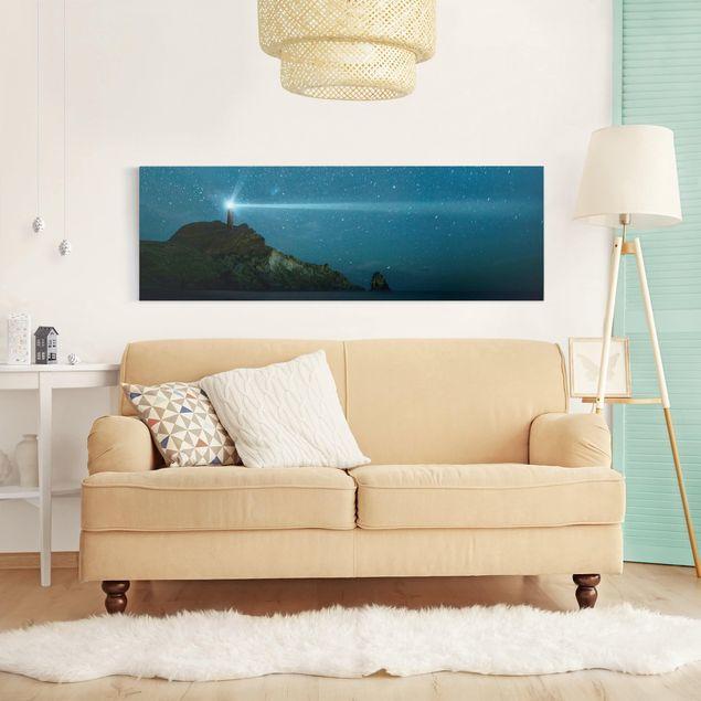 Leinwandbild - Leuchtturm - Panorama Quer