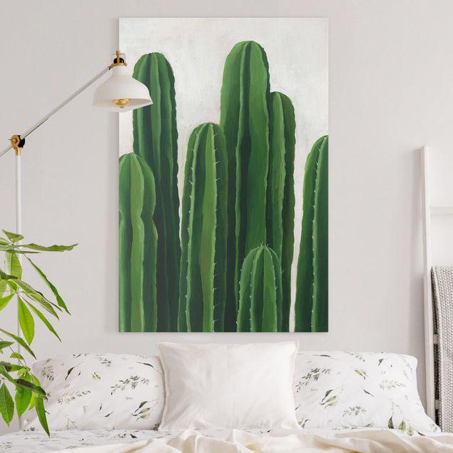Leinwandbild - Lieblingspflanzen - Kaktus - Hochformat 3:2