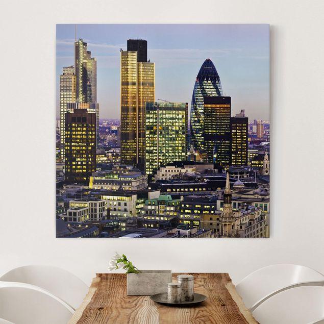 Leinwandbild - London City - Quadrat 1:1