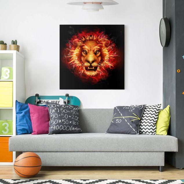 Leinwandbild - Lord Of Fire - Quadrat 1:1