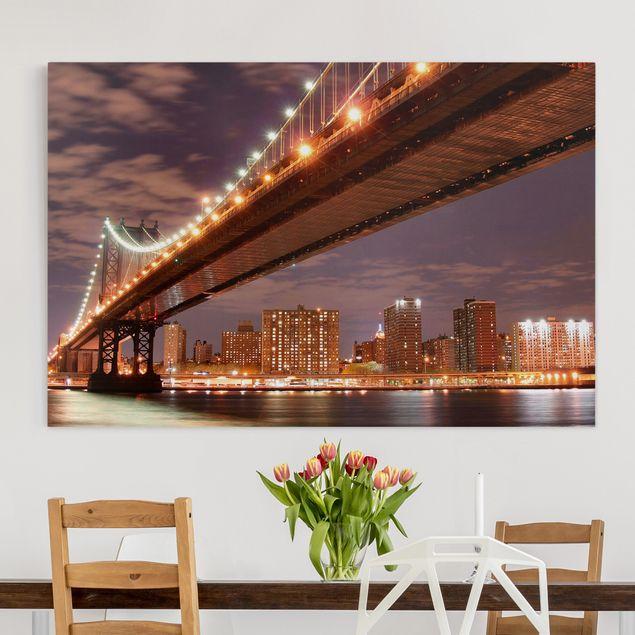 Leinwandbild - Manhattan Bridge - Quer 3:2