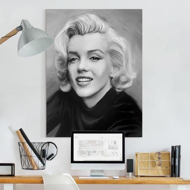Leinwandbild - Marilyn privat - Hochformat 4:3