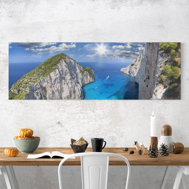 Leinwandbild - Meeresbucht - Panorama Quer