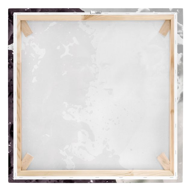 Leinwandbild Schwarz-Weiß - Milk & Coffee - Quadrat 1:1