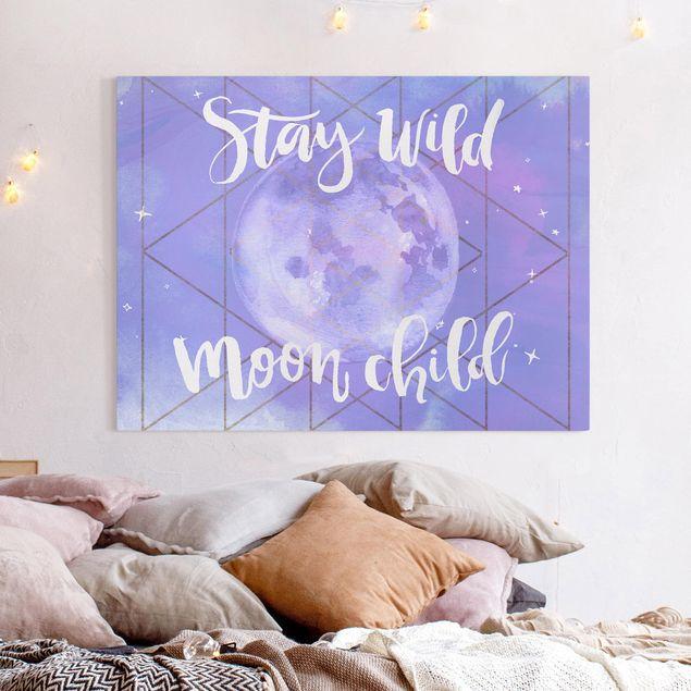 Leinwandbild - Mond-Kind - Stay wild - Querformat 3:4