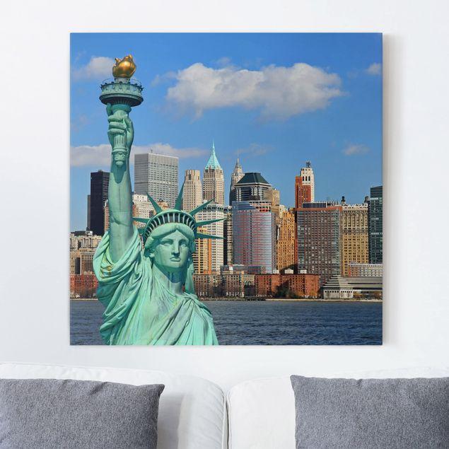 Leinwandbild - New York Skyline - Quadrat 1:1