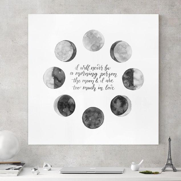 Leinwandbild - Ode an den Mond - Liebe - Quadrat 1:1