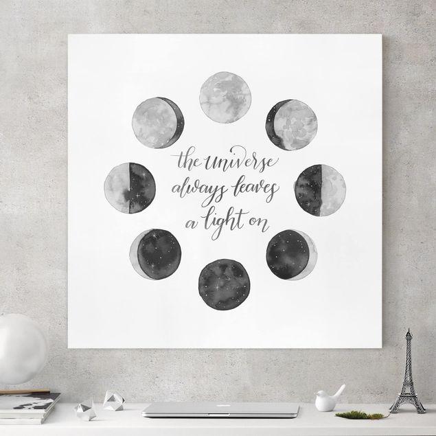 Leinwandbild - Ode an den Mond - Universum - Quadrat 1:1