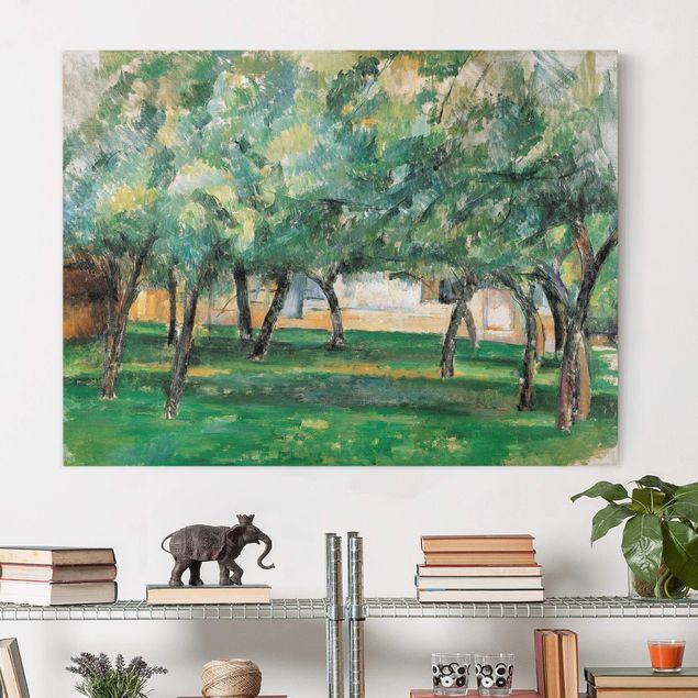 Leinwandbild - Paul Cézanne - Gehöft in der Normandie - Quer 4:3