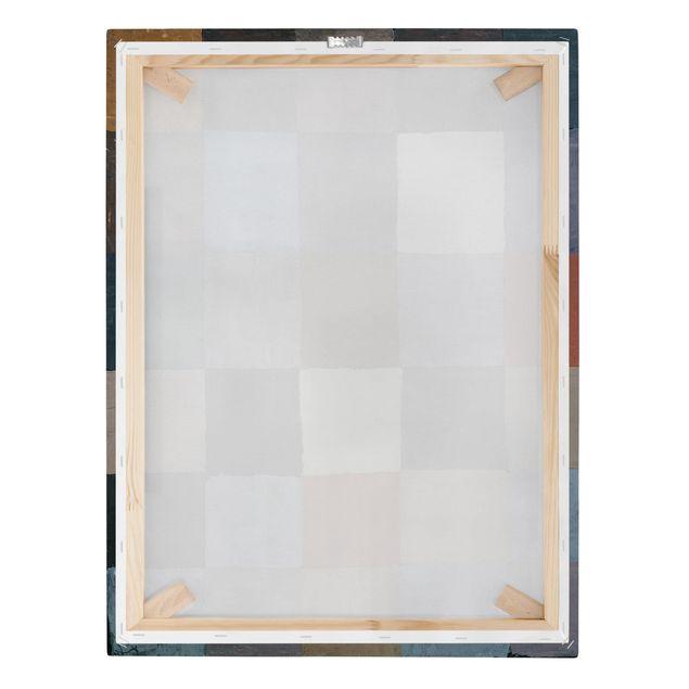 Leinwandbild - Paul Klee - Farbtafel (auf maiorem Grau) - Hoch 3:4
