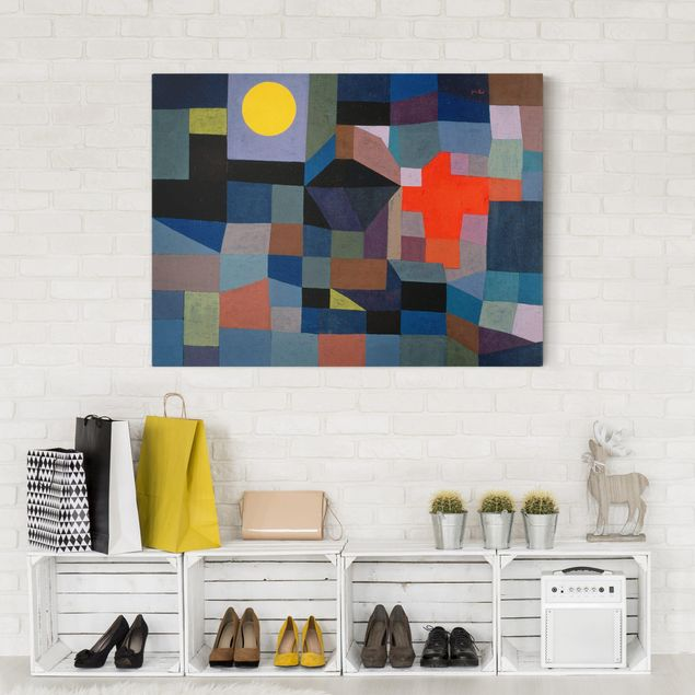 Leinwandbild - Paul Klee - Feuer bei Vollmond - Quer 4:3