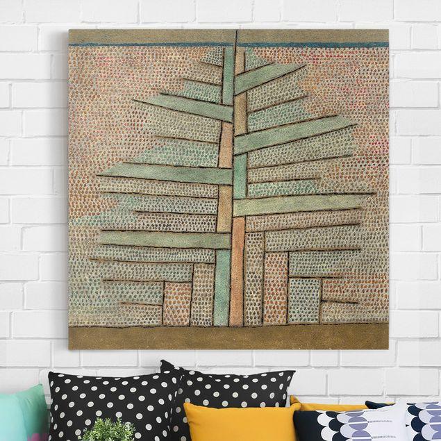 Leinwandbild - Paul Klee - Kiefer - Quadrat 1:1