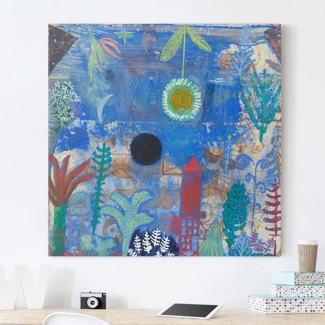 Leinwandbild - Paul Klee - Versunkene Landschaft - Quadrat 1:1