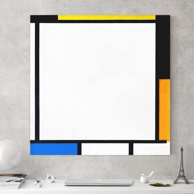 Leinwandbild - Piet Mondrian - Komposition II - Quadrat 1:1