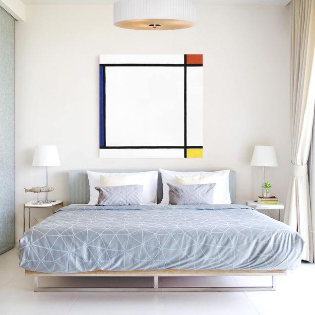Leinwandbild - Piet Mondrian - Komposition III mit Rot, Gelb und Blau - Quadrat 1:1