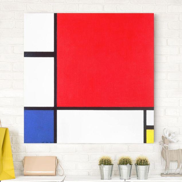 Leinwandbild - Piet Mondrian - Komposition mit Rot, Blau und Gelb - Quadrat 1:1
