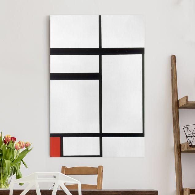 Leinwandbild - Piet Mondrian - Komposition mit Rot, Schwarz und Weiß - Hoch 2:3