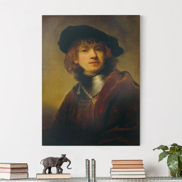 Leinwandbild - Rembrandt van Rijn - Selbstbildnis - Hoch 3:4