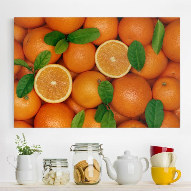 Leinwandbild - Saftige Orangen - Quer 3:2