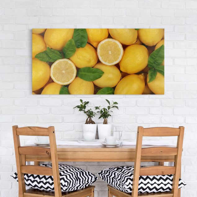 Leinwandbild - Saftige Zitronen - Quer 2:1