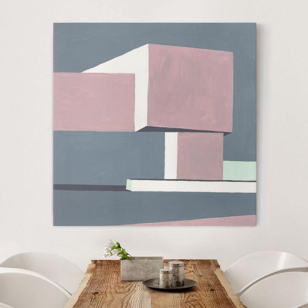 Leinwandbild - Schatten der Wände I - Quadrat 1:1
