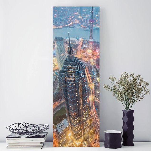 Leinwandbild - Shanghai - Panorama Hoch