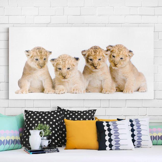Leinwandbild - Sweet Lion Babys - Quer 2:1