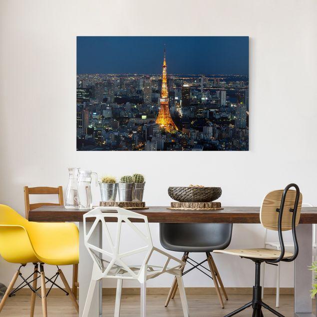 Leinwandbild - Tokyo Tower - Quer 3:2