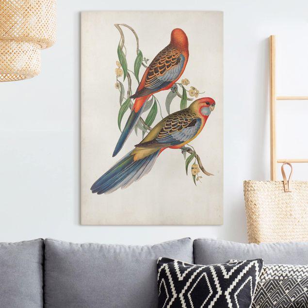 Leinwandbild - Tropische Papageien II - Hochformat 3:2