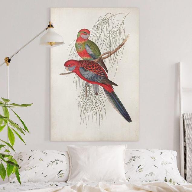 Leinwandbild - Tropische Papageien III - Hochformat 3:2