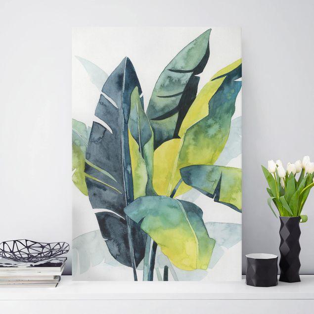 Leinwandbild - Tropisches Blattwerk - Banane - Hochformat 3:2