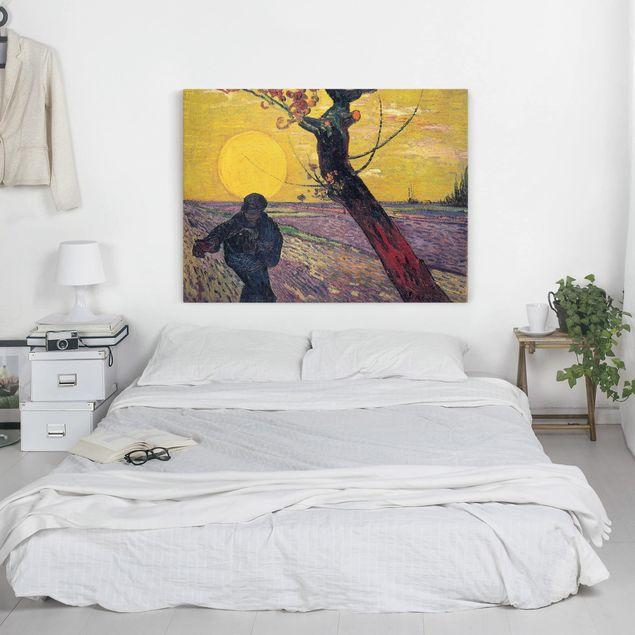 Leinwandbild - Vincent van Gogh - Sämann bei untergehender Sonne - Quer 4:3