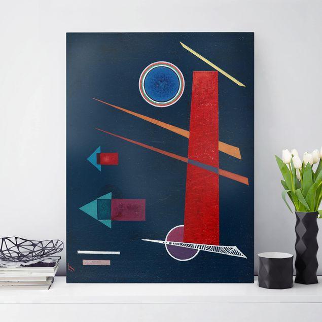 Leinwandbild - Wassily Kandinsky - Mächtiges Rot - Hoch 3:4