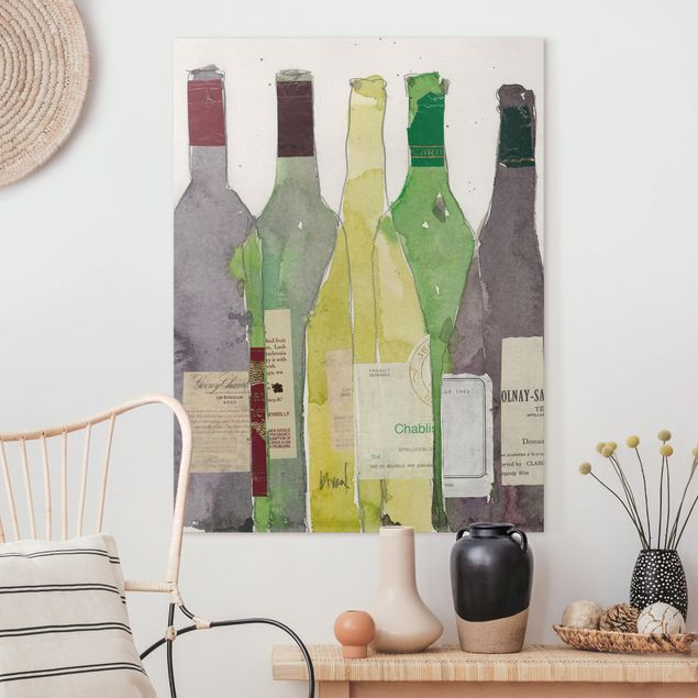 Leinwandbild - Wein & Spirituosen III - Hochformat 4:3