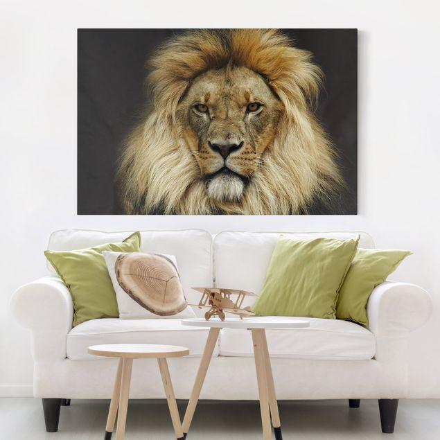 Leinwandbild - Wisdom of Lion - Quer 3:2