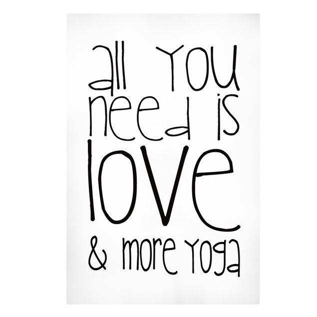 Leinwandbild - Love and Yoga - Hochformat 2:3