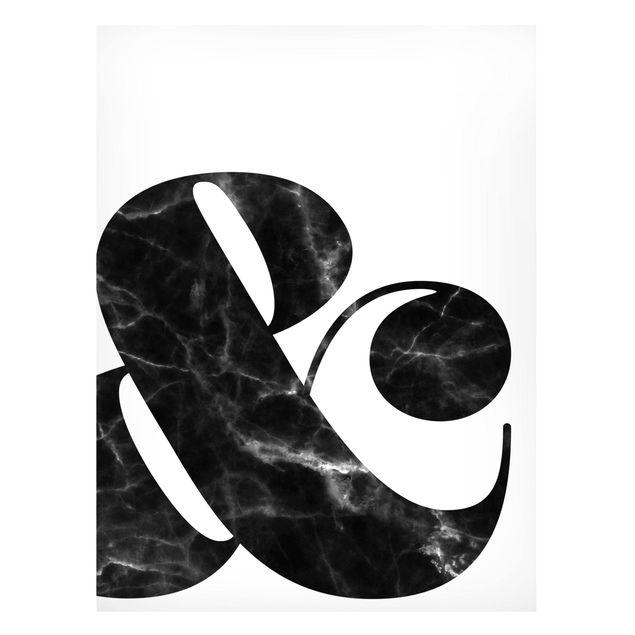 Magnettafel - Ampersand Marmor - Memoboard Hochformat