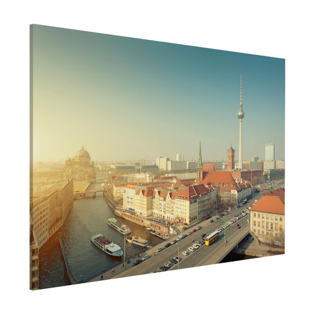 Magnettafel - Berlin am Morgen - Memoboard Quer